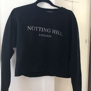 BRANDY MELVILLE CROPPED NOTTING HILL SWEATSHIRT